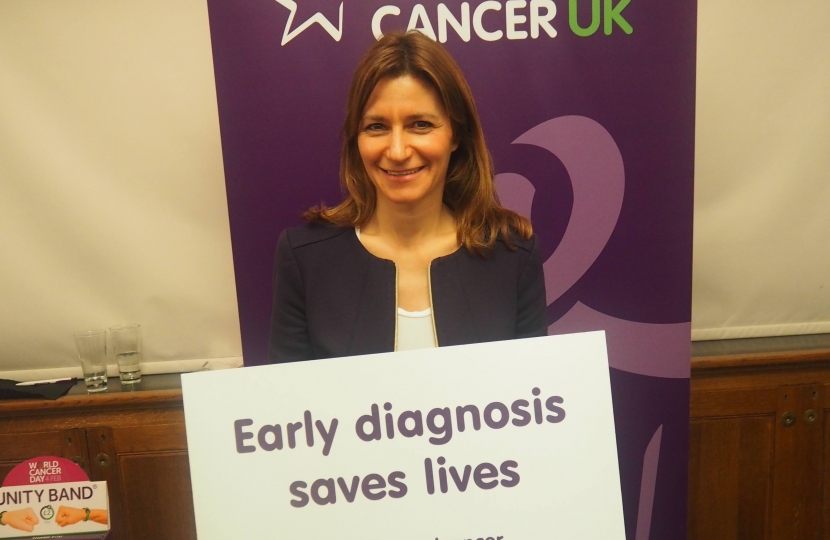 lucy Frazer MP supporting Bowel Cancer UK