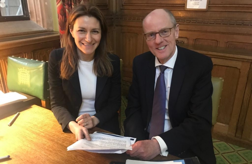 Nick Gibb with Lucy Frazer