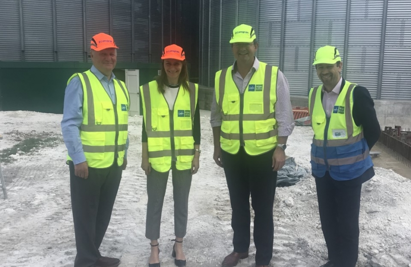 Lucy Fraze MP at Camgrain