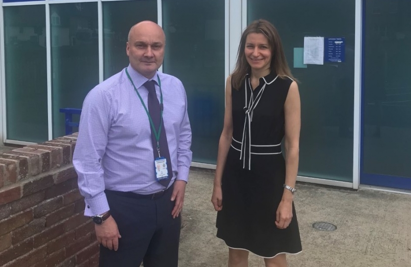 Lucy Frazer MP with Nick Dean