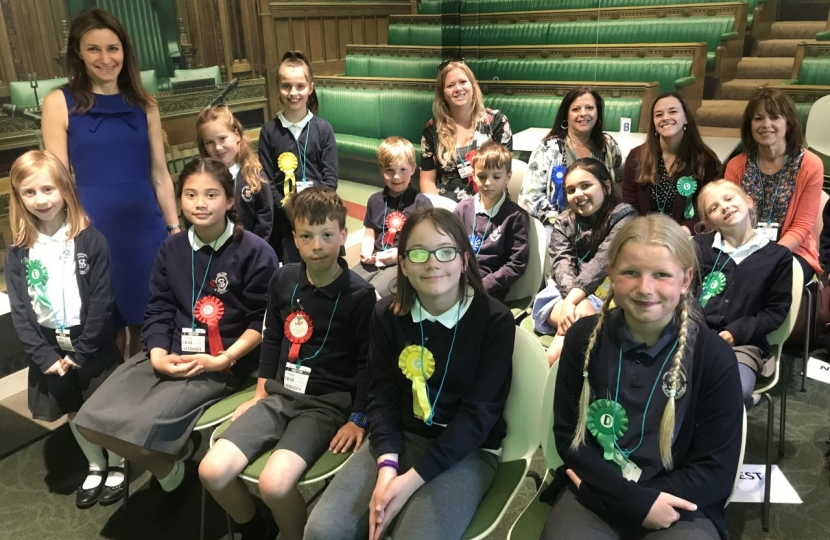 Lucy Frazer MP with Milton School Pupils