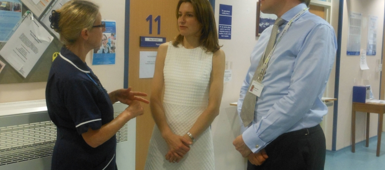 Lucy Frazer MP at The Princess of Wales Hospital